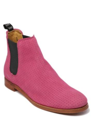 """GORDON & BROS Leder-Chelsea-Boots """"Eve"""" in Pink"""