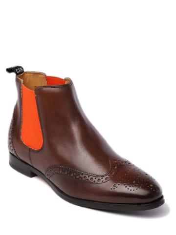 "GORDON & BROS Leder-Chelsea-Boots ""Paris"" in Braun"