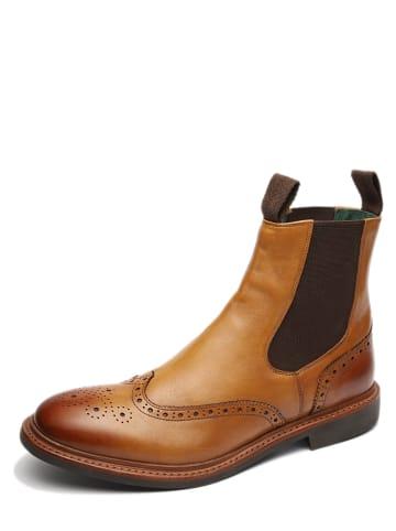 "GORDON & BROS Leder-Chelsea-Boots ""Alessio"" in Hellbraun"