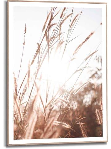 "Orangewallz Gerahmter Kunstdruck ""Sunlight Grasses Scandic Breeze"" - (B)50 x (H)70 cm"