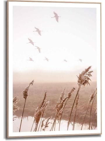 "Orangewallz Gerahmter Kunstdruck ""Tracking Birds Scandic Breeze"" - (B)50 x (H)70 cm"