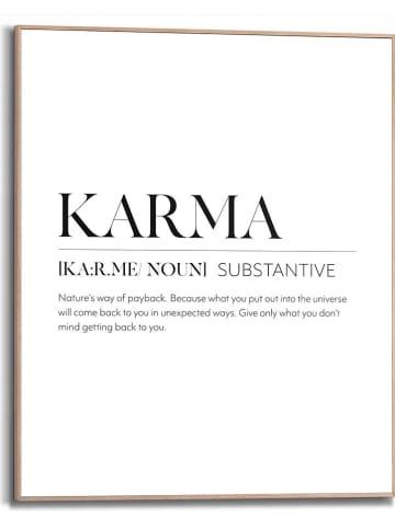 """Orangewallz Druk artystyczny """"Karma Power Words"""" w ramce - 40 x 50 cm"""