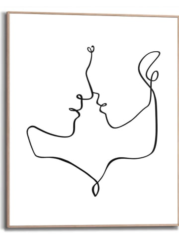 """Orangewallz Druk artystyczny """"Facing Lines Glamour Style"""" w ramce - 40 x 50 cm"""