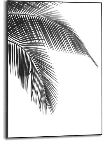 "Orangewallz Gerahmter Kunstdruck ""Leafs of Palm Black & White"" - (B)50 x (H)70 cm"