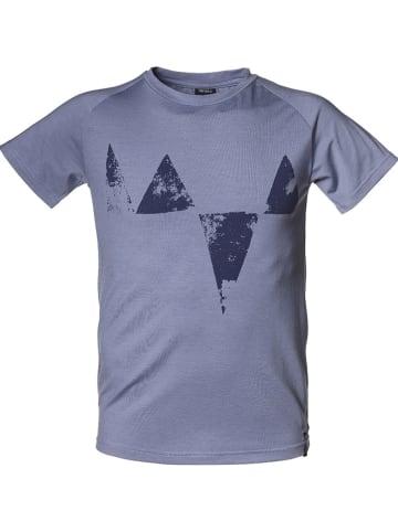 """Isbjörn Shirt """"Big Peaks"""" blauw"""