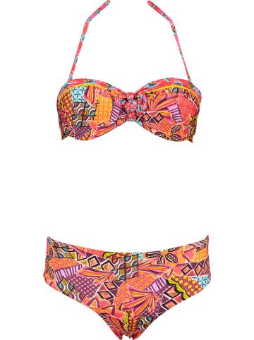"""Banana Moon Bikini """"Madeira"""" w kolorze pomarańczowym ze wzorem"""