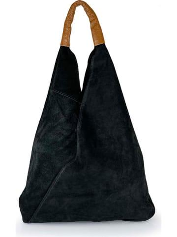 """ORE10 Leren shopper """"Lord"""" zwart - (B)34 x (H)39 x (D)8 cm"""