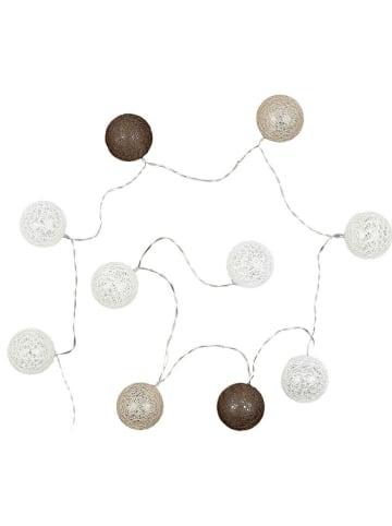 Ethnical Life Łańcuch świetlny LED w kolorze szaro-białym - dł. 175 cm