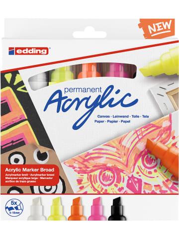 """Edding Markery akrylowe (5 szt.) """"5000 Neon"""""""