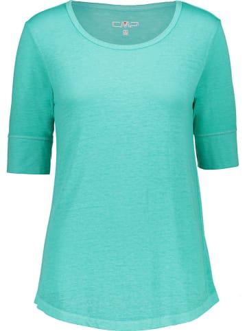CMP Koszulka w kolorze turkusowym