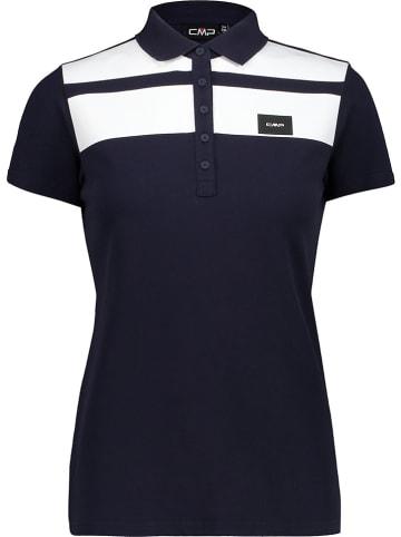 CMP Poloshirt wit/donkerblauw