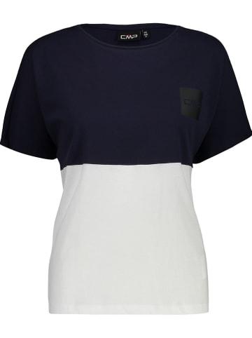 CMP Shirt donkerblauw/wit