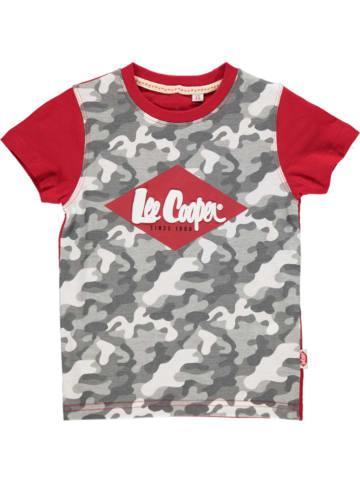 Lee Cooper Koszulka w kolorze czerwono-szarym