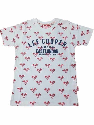 Lee Cooper Koszulka w kolorze biało-czerwonym
