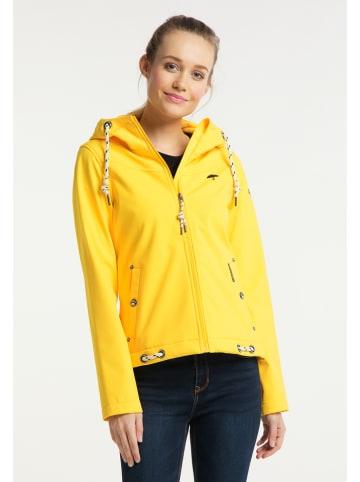 Schmuddelwedda Kurtka softshellowa w kolorze żółtym