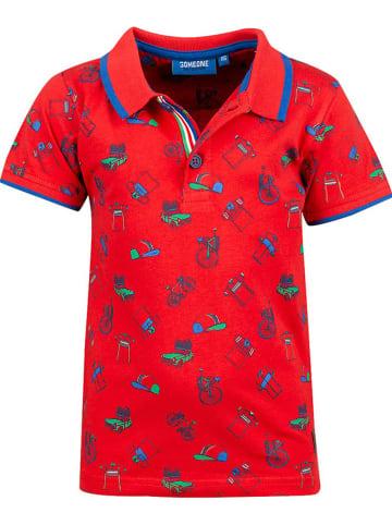 Someone Poloshirt in Rot