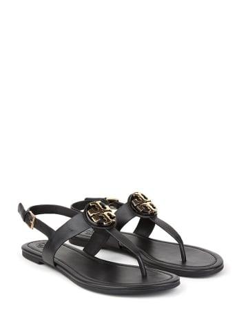 Tory Burch Skórzane sandały w kolorze czarnym