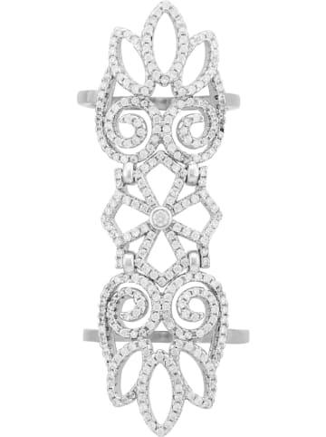 """Andrea Bellini Zilveren ring """"Mon Jardin Secret"""" met zirkonia's"""