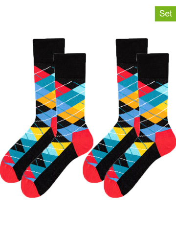 TODO SOCKS 2er-Set: Socken in Schwarz/ Bunt