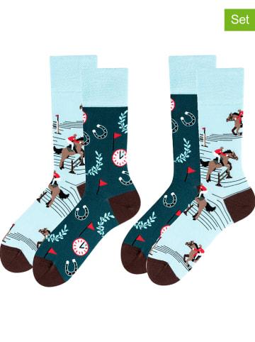 TODO SOCKS 2-delige set: sokken lichtblauw/petrol