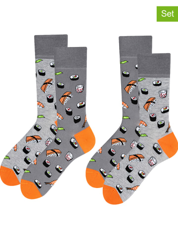 TODO SOCKS 2-delige set: sokken grijs