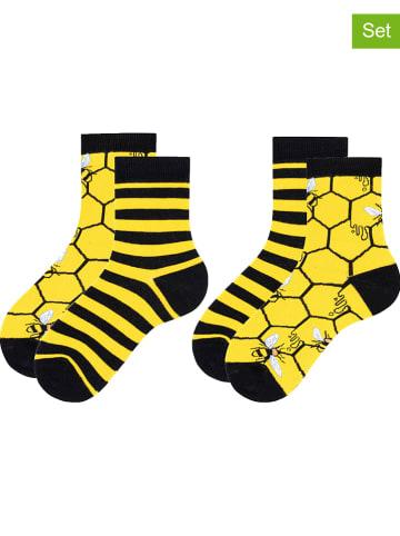 TODO SOCKS 2er-Set: Socken in Gelb/ Schwarz