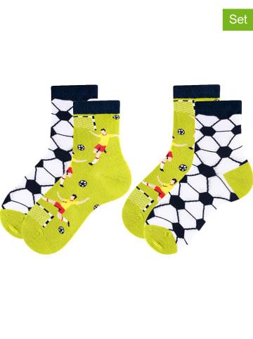 TODO SOCKS 2er-Set: Socken in Gelb/ Dunkelblau