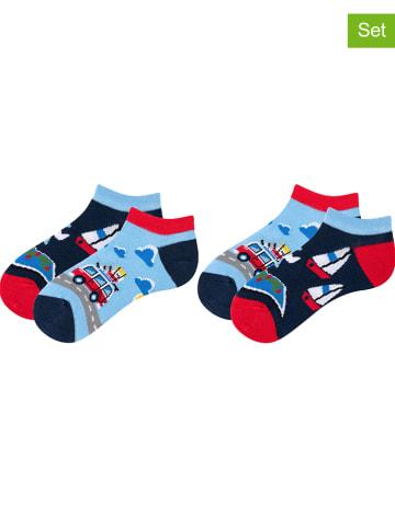TODO SOCKS 2er-Set: Socken in Dunkelblau/ Hellblau