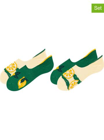TODO SOCKS Skarpety-stopki (2 par) w kolorze żółto-zielonym