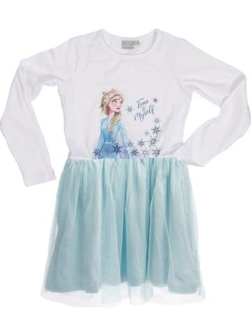 """United Labels Sukienka """"Frozen"""" w kolorze biało-błękitnym"""