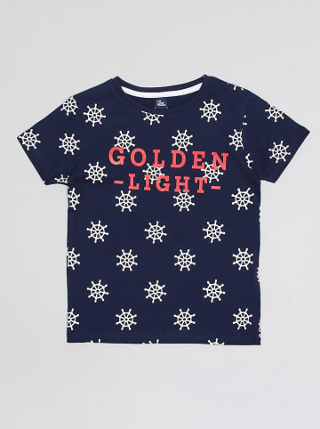 """Street MONKEY Shirt """"Econautic"""" donkerblauw/wit"""