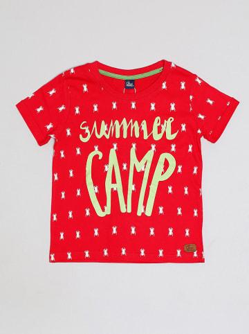 """Street MONKEY Shirt """"Summer Camp"""" in Rot/ Grün"""