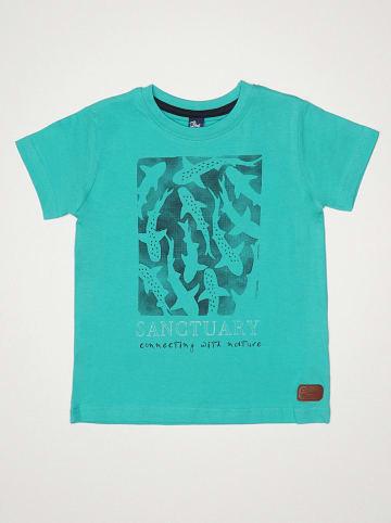 """Street MONKEY Koszulka """"Pacific Rider"""" w kolorze turkusowym"""