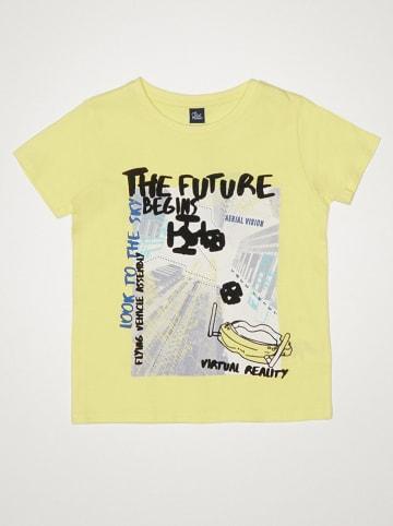 "Street MONKEY Shirt ""Good Vibes"" in Gelb"