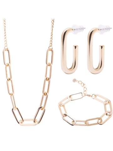 Annie Rosewood 3-częściowy komplet biżuterii - kolczyki, naszyjnik, bransoletka