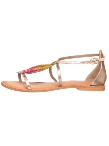 CAFèNOIR Skórzane sandały w kolorze złotym