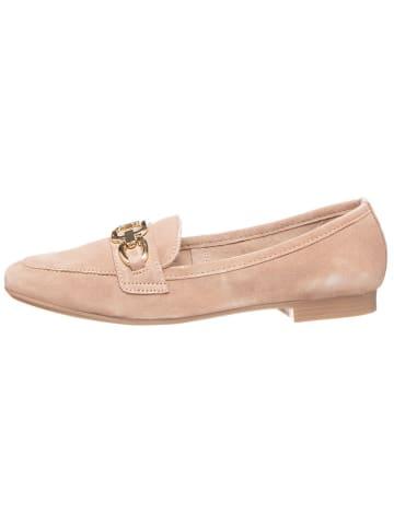 CAFèNOIR Skórzane slippersy w kolorze beżowym