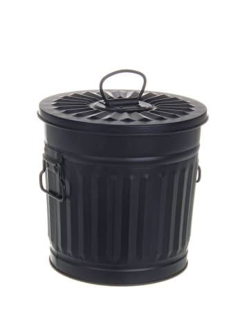 Bizzotto Kosz w kolorze czarnym na śmieci - (S)22 x (W)21,5 x (G)18,5 cm