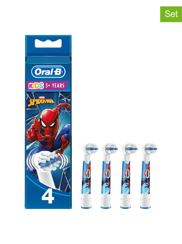 "Oral-B 4-delige set: opzetborstels ""Kids Spiderman"" meerkleurig"