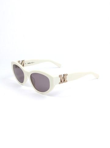 Max Mara Damskie okulary przeciwsłoneczne w kolorze szaro-białym