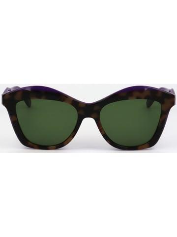 Salvatore Ferragamo Damen-Sonnenbrille in Schwarz/ Braun