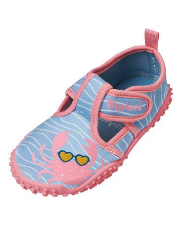 Playshoes Buty kąpielowe w kolorze błękitno-jasnoróżowym