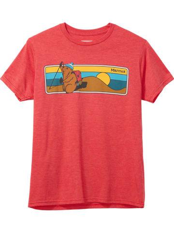 "Marmot Functioneel shirt ""Marty"" rood"