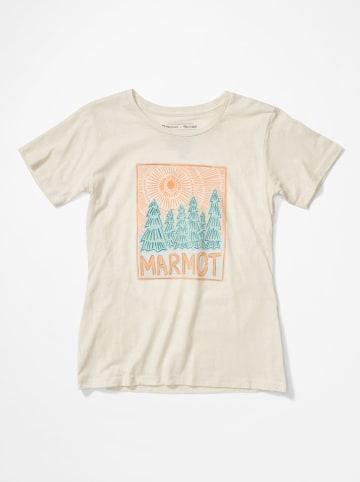 """Marmot Koszulka funkcyjna """"Woodblock"""" w kolorze beżowym"""