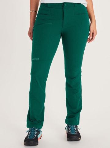 """Marmot Spodnie softshellowe """"Scree"""" w kolorze zielonym"""