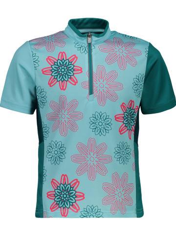 CMP Koszulka funkcyjna w kolorze turkusowym