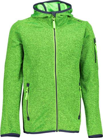 CMP Kurtka polarowa w kolorze zielonym