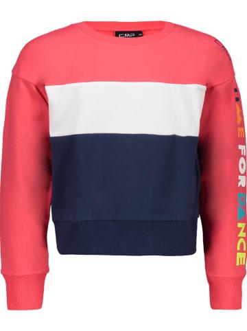 CMP Bluza w kolorze granatowo-koralowym