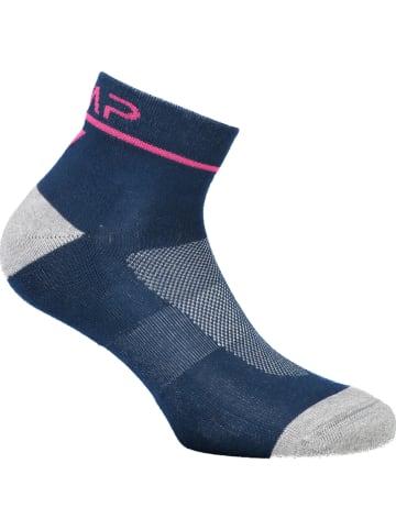CMP Skarpety w kolorze niebiesko-szaro-różowym do biegania
