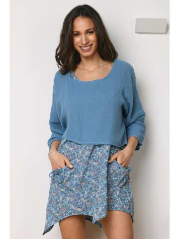 """La Compagnie Du Lin Lniana sukienka """"Paquerette"""" w kolorze błękitnym"""